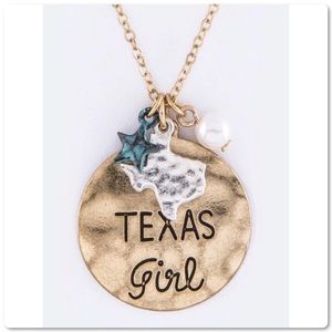 Texas Girl Mix Charm Statement Pendant Necklace